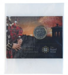 2009 £2 Robert Burns Type 1 Brilliant Uncirculated pack for sale